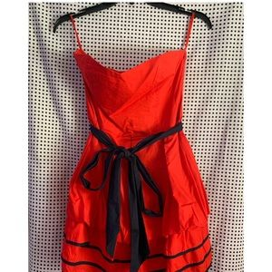 Bright red & Blue sailor dress by Toska